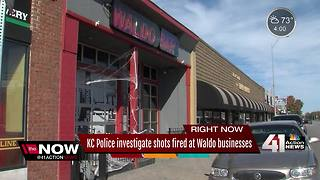 KC police investigate shots fired at Waldo businesses - Video