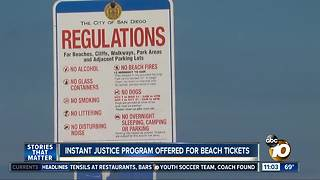 Instant Justice program offered for beach tickets