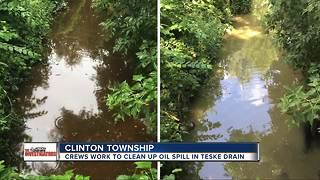 Oil spill in Macomb County has officials searching for the cause - Video