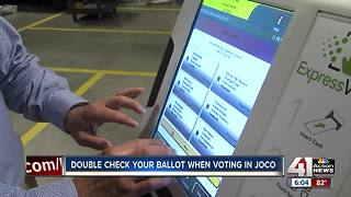 Double check your ballot when voting in Johnson County - Video