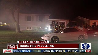 Sunday morning house fire in Colerain