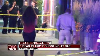 1 dead in triple shooting at bar - Video