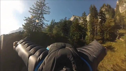 Wingsuit proximity flight through trees