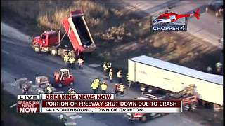 All I-43 SB lanes closed in Ozaukee County - Video