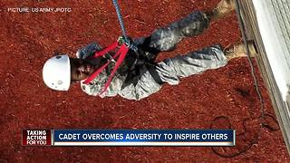 Winter Haven student born with rare medical condition excels and inspires as JROTC cadet - Video