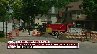 Gas leak in Sheboygan leads to short evacuation - Video