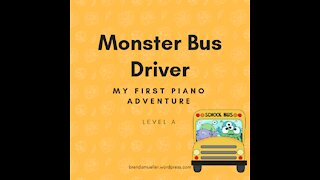 Piano Adventures Lesson Book A - Monster Bus Driver