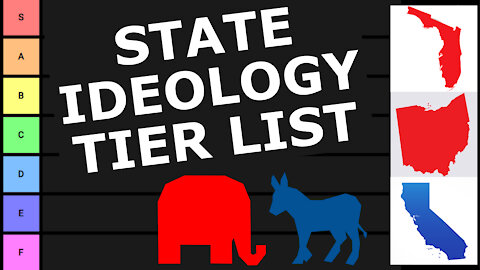 TIER LIST: What Specific Ideology Does Each State Have?