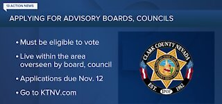 Clark County seeks applicants for Town Advisory Boards, Citizens Advisory Councils