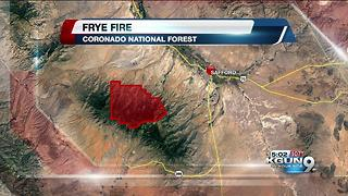 Personnel increases as Frye Fire grows - Video