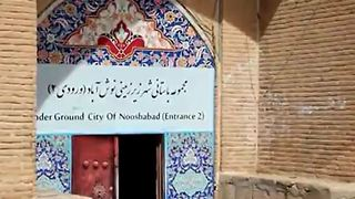 Noosh Abad Ancient Underground City Near Kashan, Iran - Video