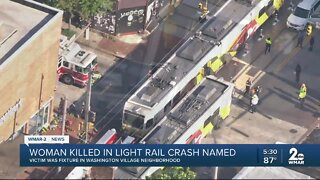 Baltimore police identify woman killed in Light Rail crash