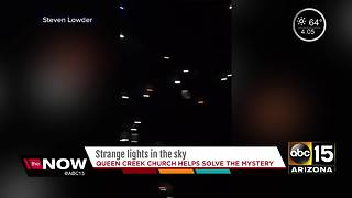 Strange lights in the Valley sky mystery solved - Video