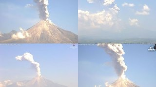 Volcanic Activity Spotted at Volcan de Colima in Mexico in October 2015 - Video