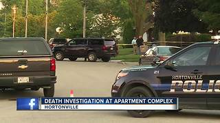 Death investigation at Hortonville apartment - Video