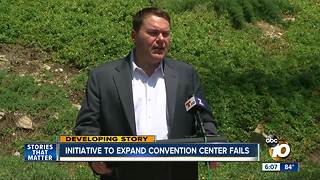 Initiative to expand convention center fails - Video