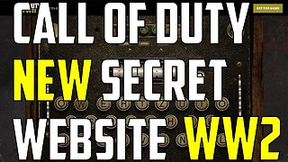 Call of Duty: Hidden website for 'WWII' secret codes - Video