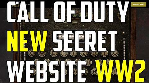 Call of Duty: Hidden website for 'WWII' secret codes