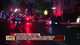 1 person killed, 2 injured in shooting on Detroit's west side