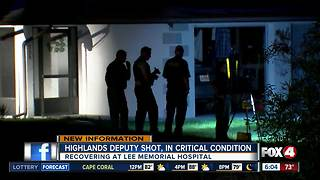 Highlands County deputy critically wounded by gunshot, suspect arrested - Video