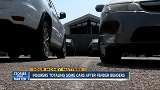 Insurers totaling cars after fender benders - Video