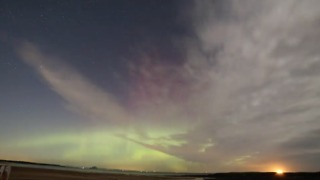 Aurora Spotted in Skies Above East Lothian - Video