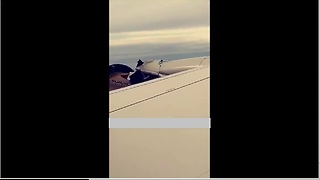 Passenger Captures Moment When Airplane Engine Fails Mid-Flight
