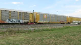 CSX Autorack Train from Sterling, Ohio 8/15/2020