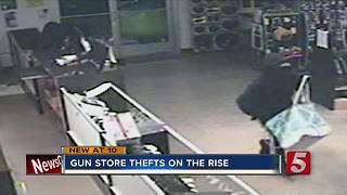 Gun Store Thefts On The Rise In Middle Tennessee, Across The Nation - Video