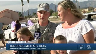 Teacher car parade honors military students