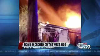 Double wide catches fire in Tucson Estates community - Video
