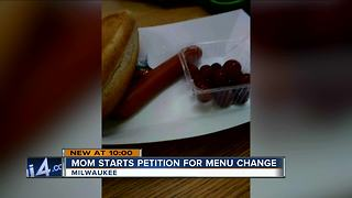 Mom circulating petition for healthier MPS lunches - Video
