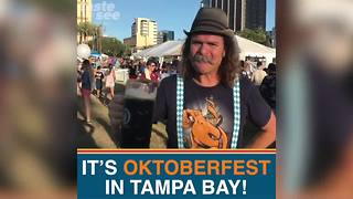 Oktoberfest kicks off in downtown Tampa - Video
