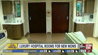 Luxury hospital rooms for new moms