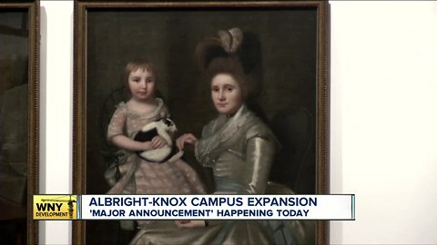 The Albright-Knox Art Gallery says it's making a major announcement Thursday