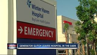 Generator glitch causes power outage at Polk hospital during Hurricane Irma - Video