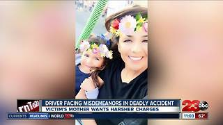 Victim's mother wants harsher charges in deadly crash - Video