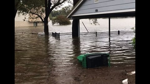 Rising Water Levels Drench Properties on Colorado River's Banks in Kingsland, Texas