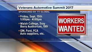 Jobs for veterans featured at automotive summit in Troy on Sept. 15 - Video