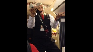 Sassy Flight Attendant 'Spices Up' Preflight Safety Demonstrations - Video