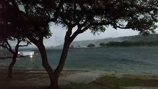 Imposing 'Twister' Captured Moving Over Lake Travis - Video