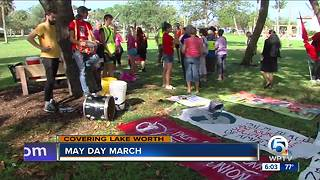 May Day March being held in Lake Worth - Video