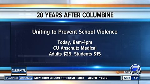 Conference today on preventing school violoence