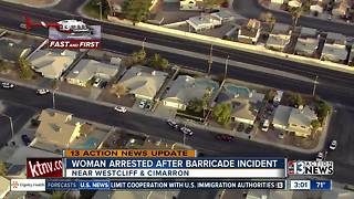 Woman arrested after barricade situation - Video