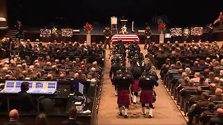 Thousands gather for funeral for fallen Oakland County deputy Eric Overall - Video
