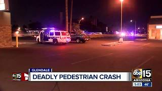 Pedestrian struck and killed in Glendale - Video