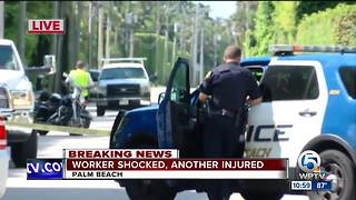 Worker shocked in Palm Beach, another injured - Video