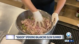Spending by holiday tourists balancing slow summer