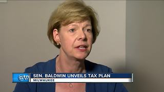 Sen. Baldwin unveils tax reform plan - Video