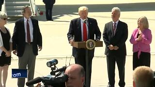 President Trump talks health care, workforce during Wisconsin visit